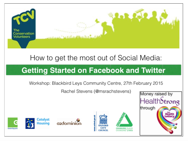 Social Media Workshop at Blackbird Leys Community Centre